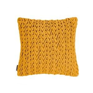 Žltý vankúš ZicZac Waves, 45×45cm