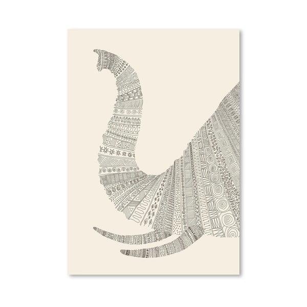 Plagát Elephant (On Beige) od Florenta Bodart, 30x42 cm