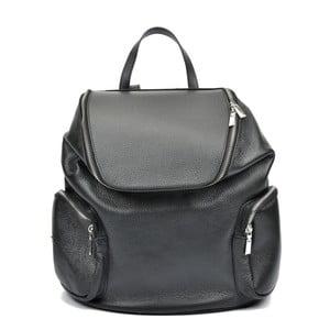 Čierny kožený batoh Luisa Vannino Fiona