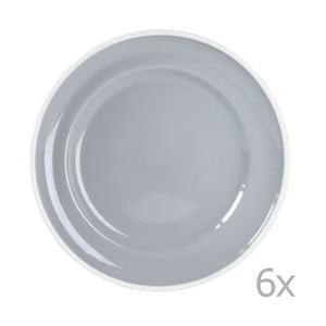 Sada 6 tanierov Puck 21 cm, sivá