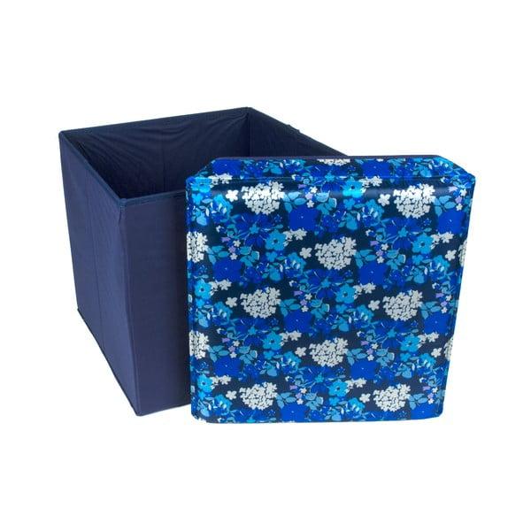 Skladacia úložná krabica Blue Flowers