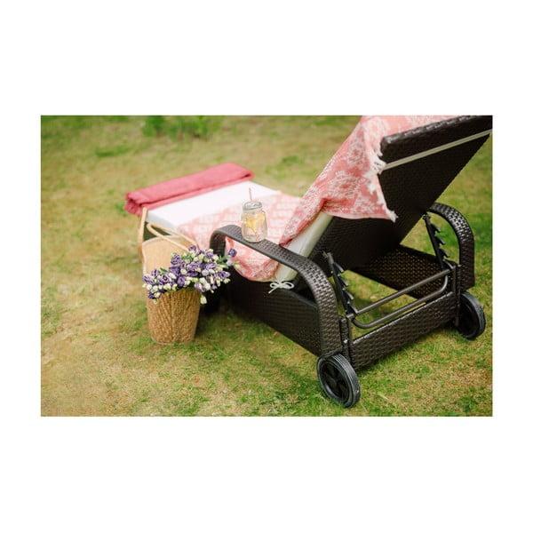 Záhradné ležadlo z umelého ratanu Timpana Sun