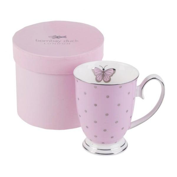 Ružový hrnček v darčekovej krabičke Bombay Duck Miss Darcy