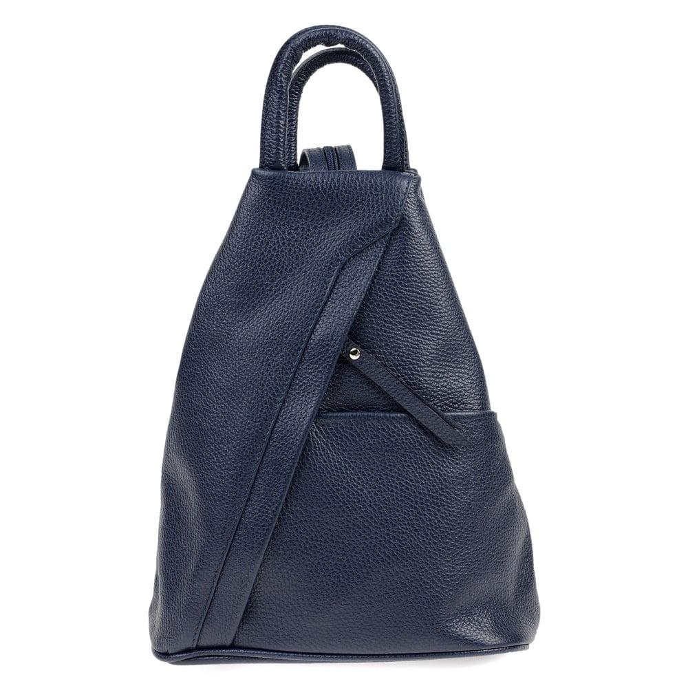 Modrý kožený batoh Carla Ferreri Emilia