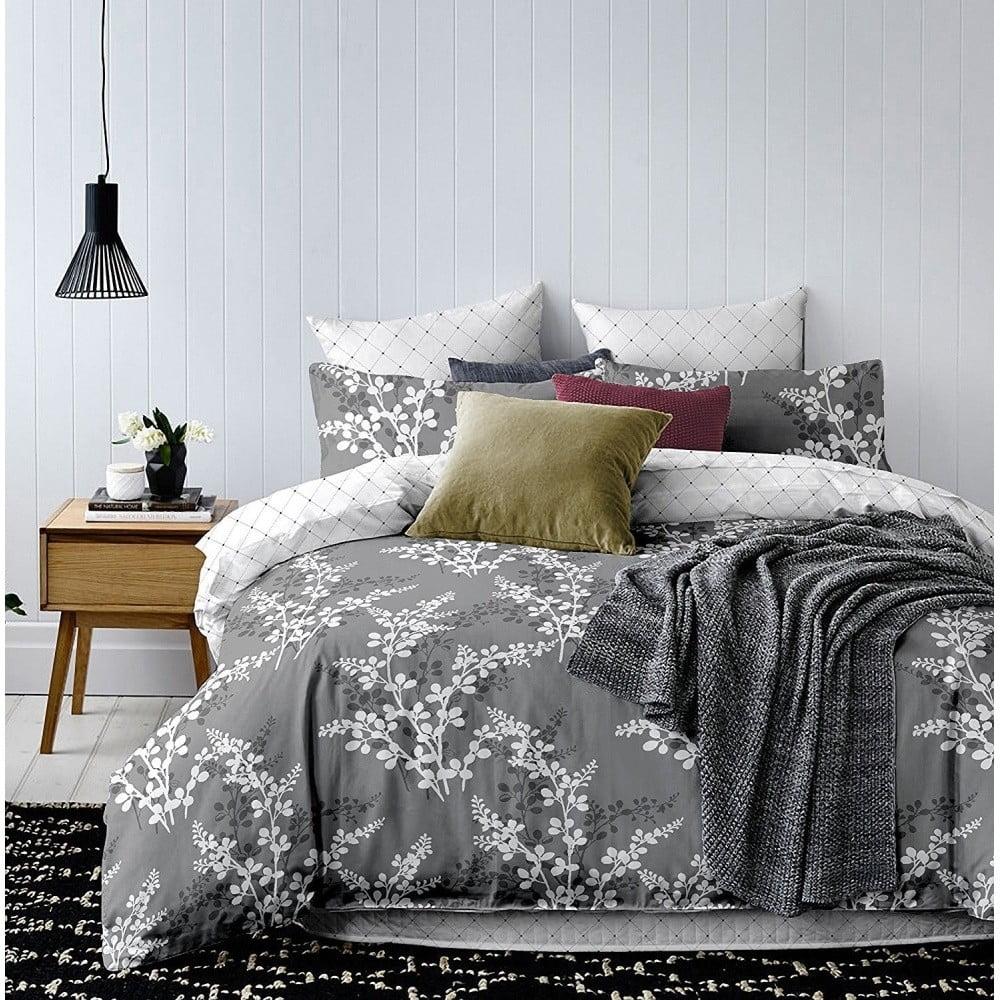 Sivé obliečky z mikrovlákna DecoKing Calluna, 140 x 200 cm