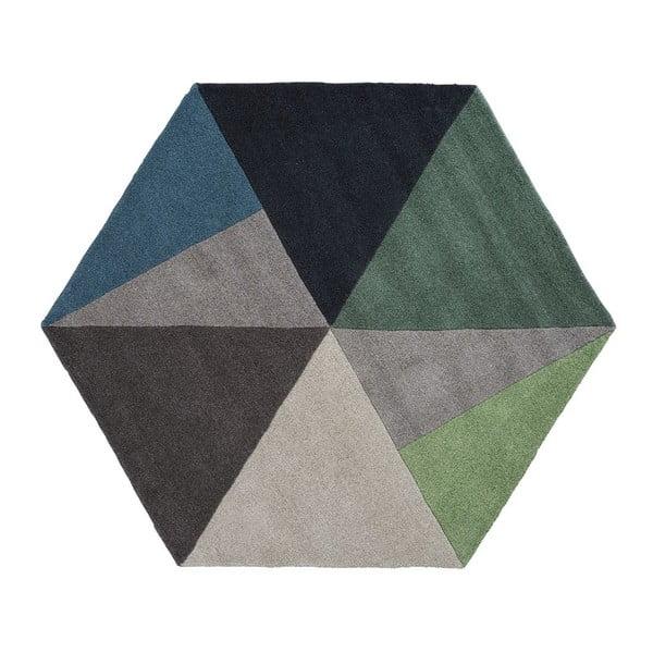 Vlnený koberec Sato Petrol, 150x130 cm