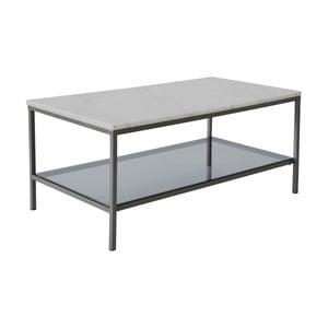 Mramorový konferenčný stolík so sivou konštrukciou RGE Ascot, 110 x 48 cm