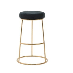 Čierna stolička InArt Velvet Society, výška 68 cm
