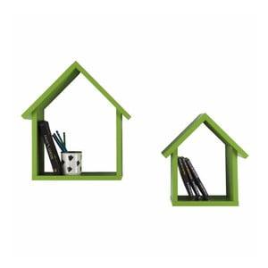 Sada 2 polic Maison, zelená