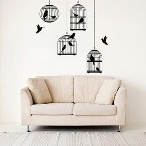 Samolepka na stenu Vtáky a klietky