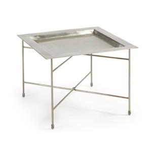 Odkladací stolík v striebornej farbe La Forma Bruce