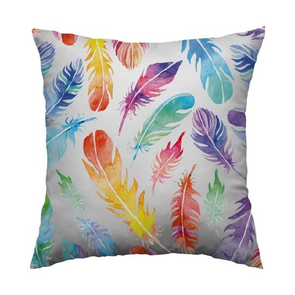 Vankúš Rainbow Feathers, 40x40 cm