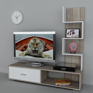 Televízna stena Akay Cordoba/White, 39x160x160 cm