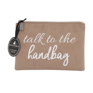 Hnedá dámska listová kabelka Statement Pieces Talk to Handbag, 24 x 17 cm