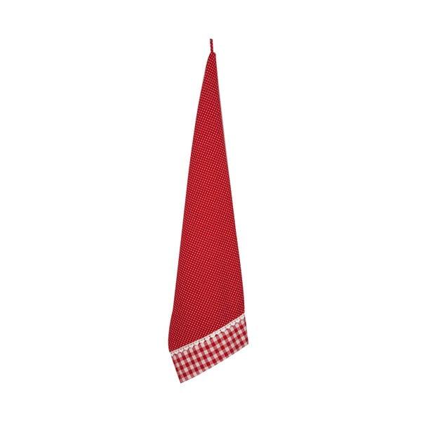 Kuchynská utierka Basic Hearts 50x85 cm, červená