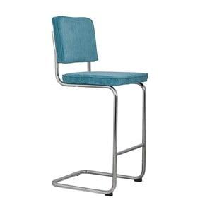 Modrá barová stolička Zuiver Ridge Rib