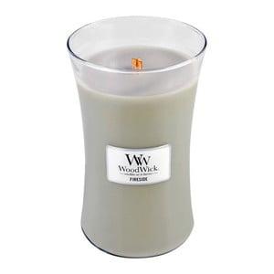 Sviečka s vôňou jantáru, vetiveru a pižma Woodwick Oheň v kozube, doba horenia 130 hodín