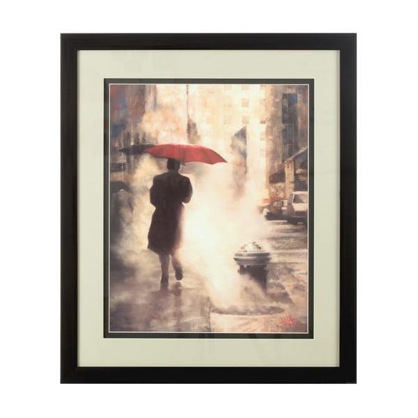 Obraz Man Under Umbrella, 60x71 cm