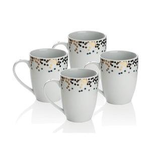 Sada 4 porcelánových hrnčekov Sabichi Gatsby, 300ml