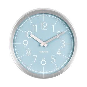 Modré nástenné hodiny ETH Convex