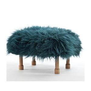 Stolička z ovčej kože Dilys Teal