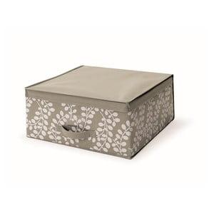 Hnedý uložný box s vrchnákom Cosatto Floral, 45 x 45 cm
