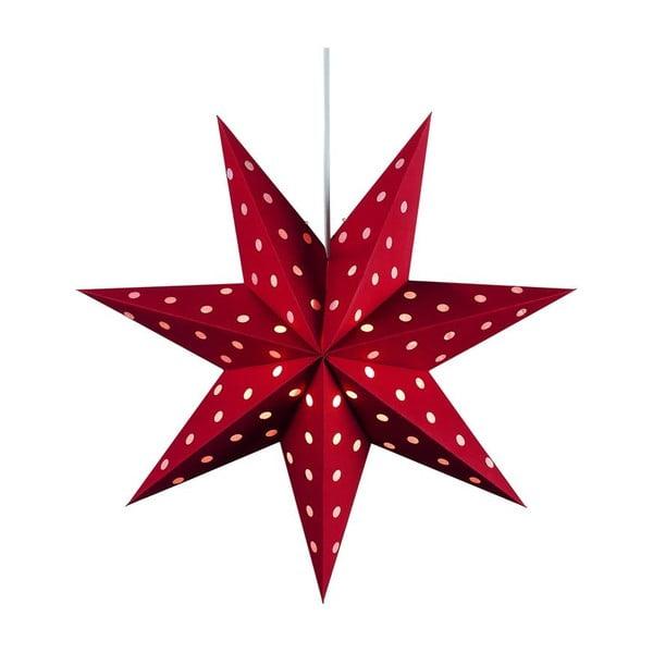 Závesná svietiaca hviezda Dotty, Ø45 cm, červená