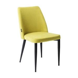 Žltá jedálenská stolička Kare Design Amalfi