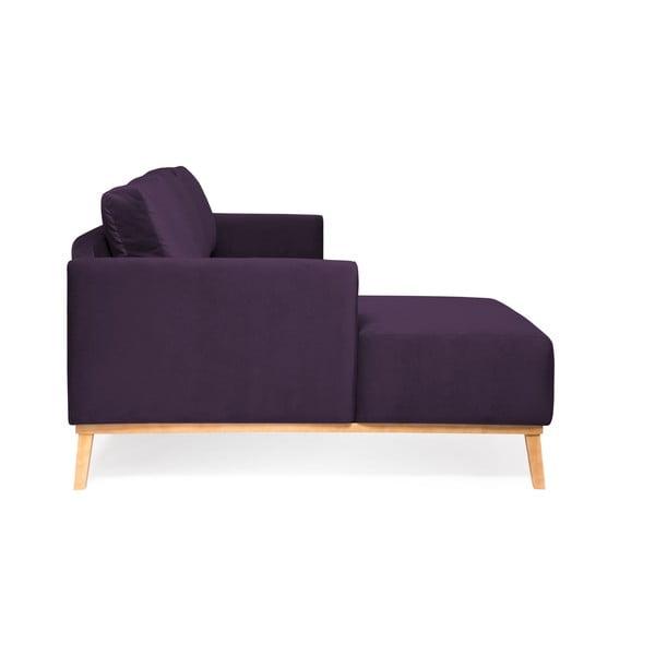Fialová trojmiestna sedačka ľavý roh Vivonita Milton Trend