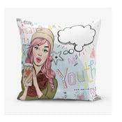 Obliečky na vaknúš s prímesou bavlny Minimalist Cushion Covers Writing, 45 × 45 cm