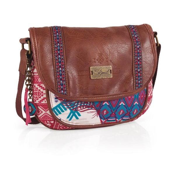 Ružovo-modrá kabelka SKPA-T, 25 x 20 cm