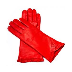 Dámske červené kožené rukavice Pride & Dignity London, veľ. 8