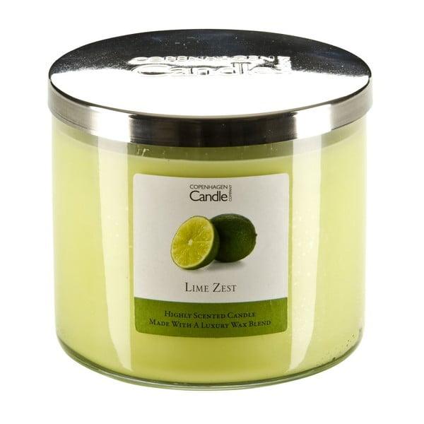 Aromatická sviečka s vôňou limetiek Copenhagen Candles, doba horenia 50hodín
