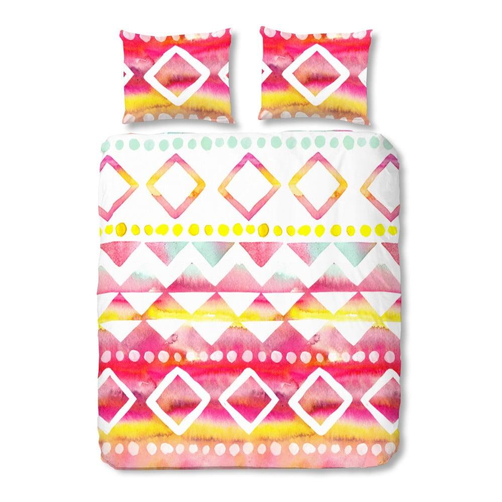 Ružové bavlnené obliečky na jednolôžko Müller Textiel Lily, 140 × 200 cm