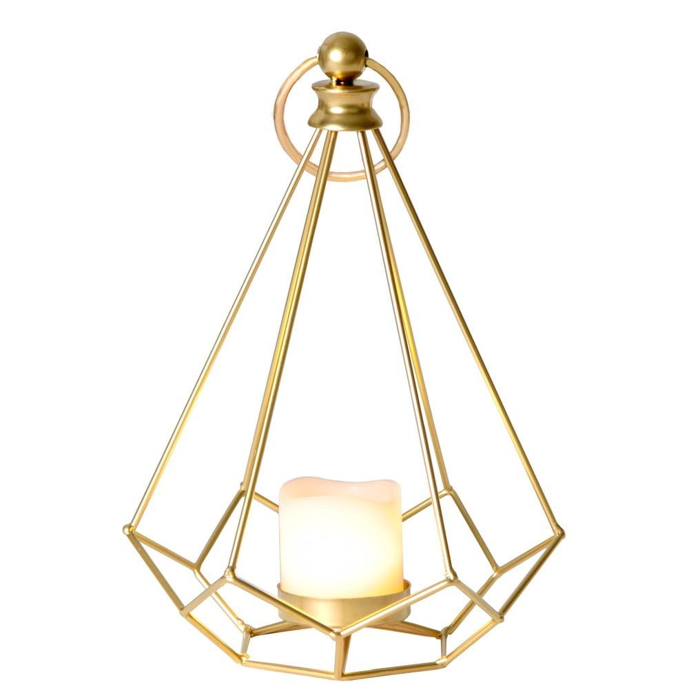 LED lampáš v mosadznej farbe Best Season Dome