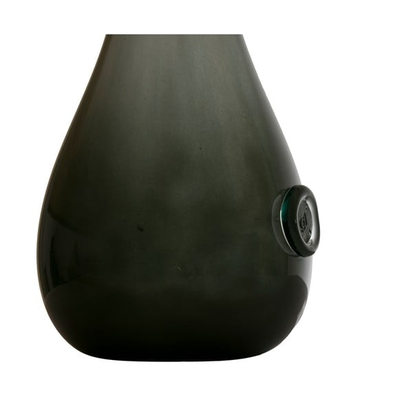 Sklenená váza Swan 70-80 cm, olivovo zelená