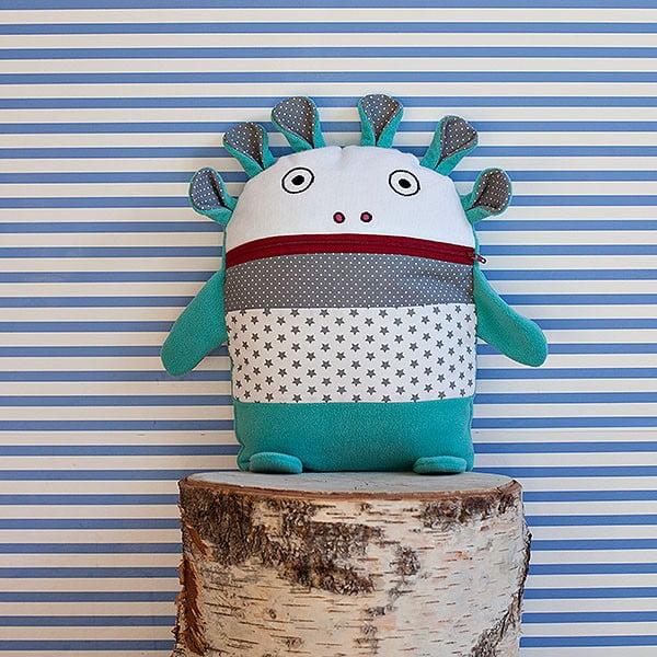 Tyrkysovo-sivý pyžamožrút Bartex, 35 x 30 cm