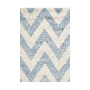 Vlnený koberec Stella Light Blue, 91x152 cm