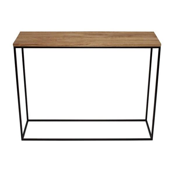 Konzolový stolík Skinny Oak Black
