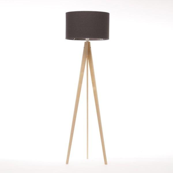Čierna stojacia lampa 4room Artist, breza, 150 cm