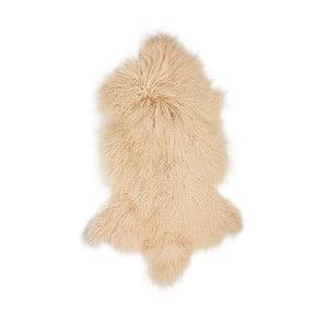 Béžová ovčia kožušina s dlhým vlasom Hyggur, 85 x 50 cm
