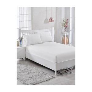 Bílé neelastická bavlnená plachta na jednolôžko Purreo Muneco, 160×200 cm