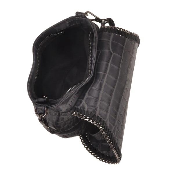 Kožená kabelka Emilio Masi Star, sivá