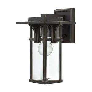 Čierne nástenné svietidlo Elstead Lighting Manhattan Uno Small