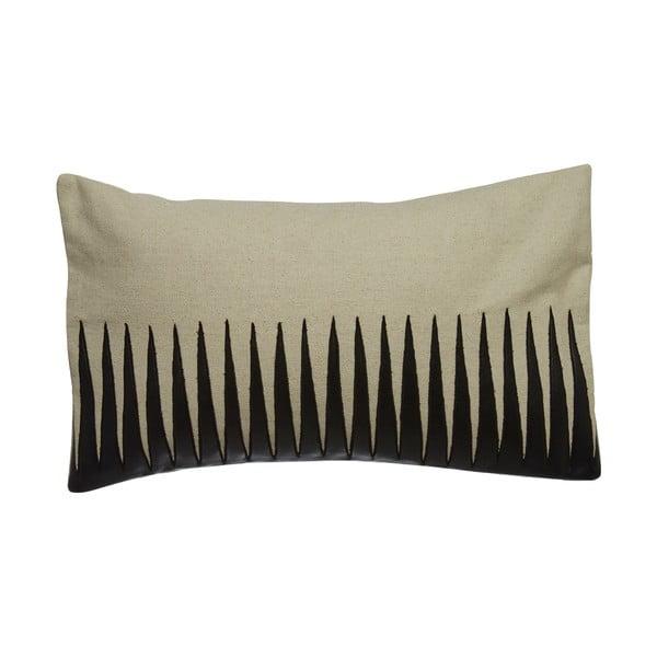 Vankúš s koženým efektem Premier Housewares Thorns, 33 x 60 cm