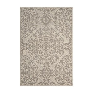 Koberec Nourison Damask Ivory Grey, 114x69cm