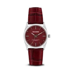 Dámske červené hodinky s koženým remienkom Zadig & Voltaire