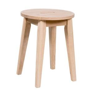 Matne lakovaná nízka dubová stolička Folke Frigg