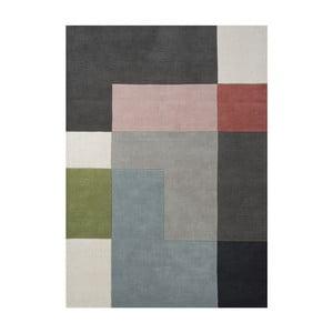 Vlnený koberec Tetris Powder, 140x200 cm