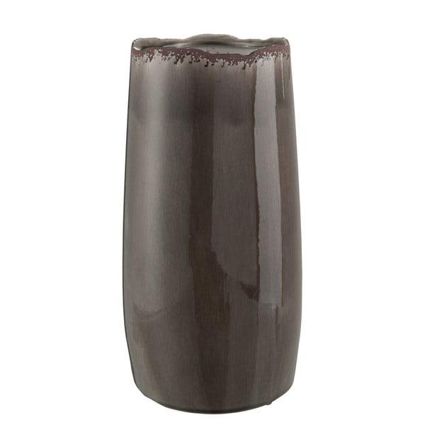Váza J-Line Ceram Taupe, 34 cm